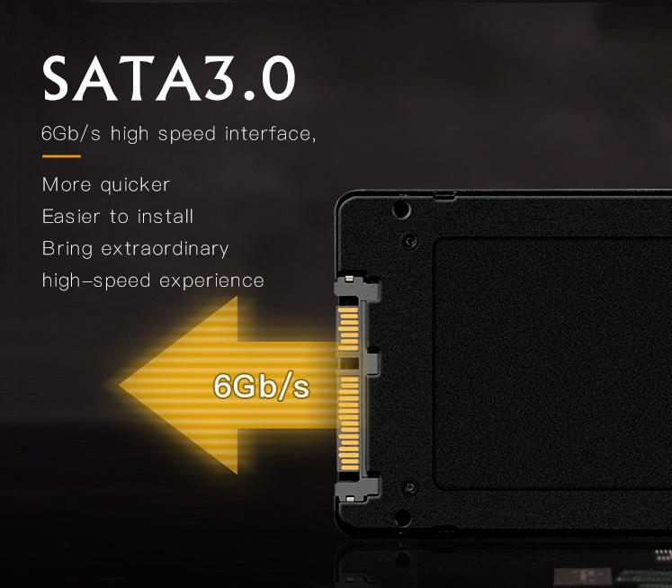 Kết nối chuẩn Sata 3 lên đến 6Gb/s