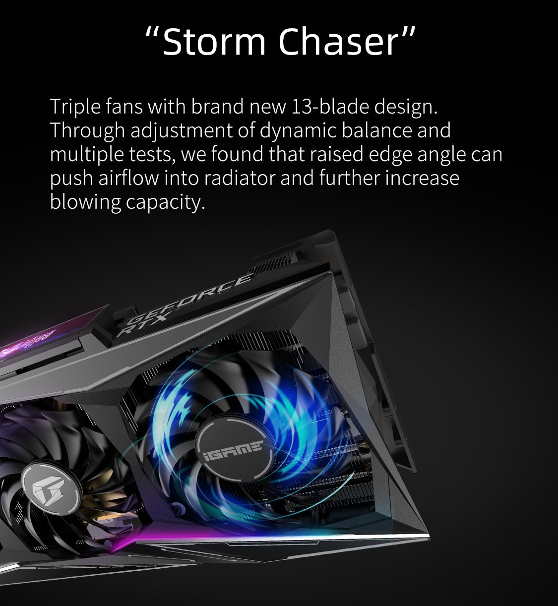 Colorful iGame RTX 3080 Vulcan OC 10G-V fan