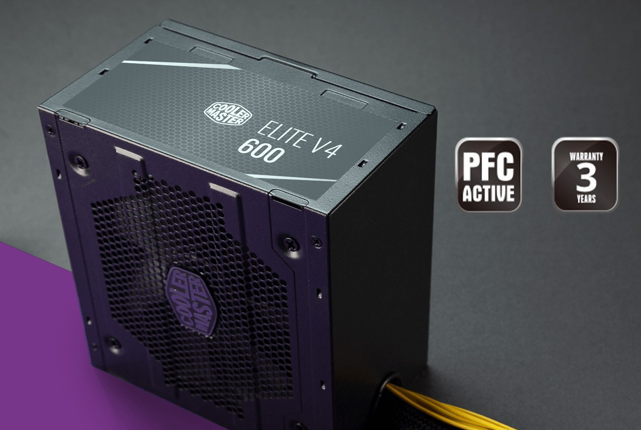 Nguồn Cooler Master Elite V4 600 - 230V - 80 Plus White