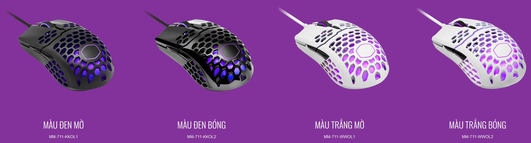 Chuột Gaming Cooler Master MM711 Black Matte RGB