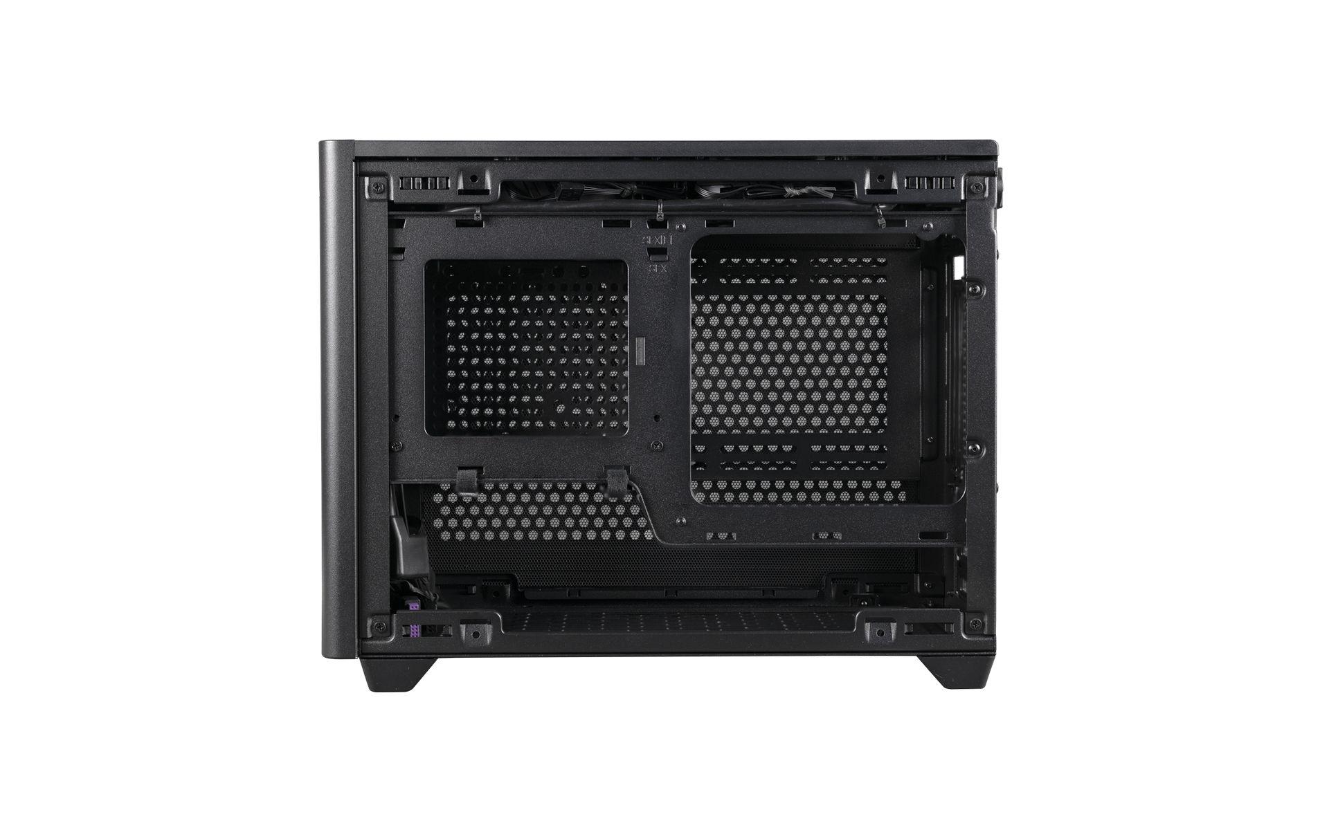 NR200P Black hỗ trợ hai loại bo mạch chủ Mini-ITX và Mini DTX