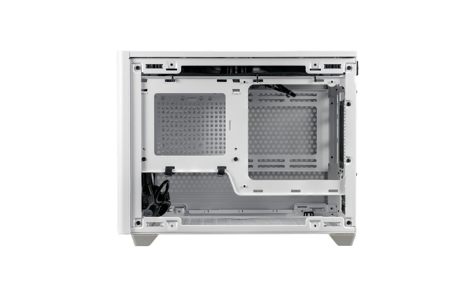 NR200P White hỗ trợ hai loại bo mạch chủ Mini-ITX và Mini DTX