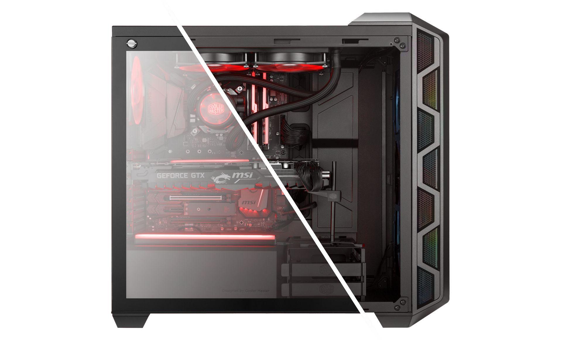 Cooler Master H500 ARGB hỗ trợ Show dàn phần cứng gaming