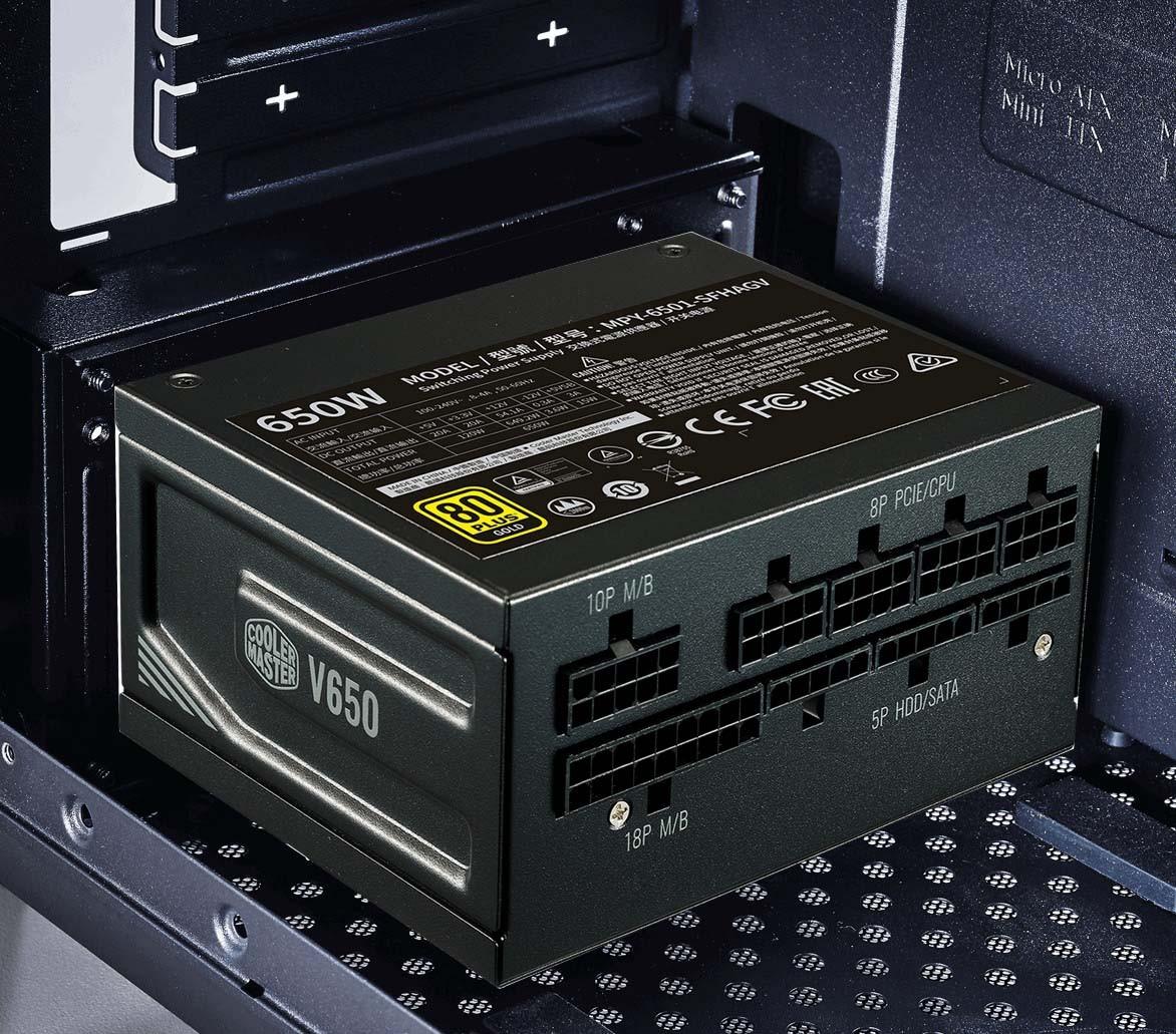 Cooler Master V650 SFX GOLD tích hợp cáp full-modullar