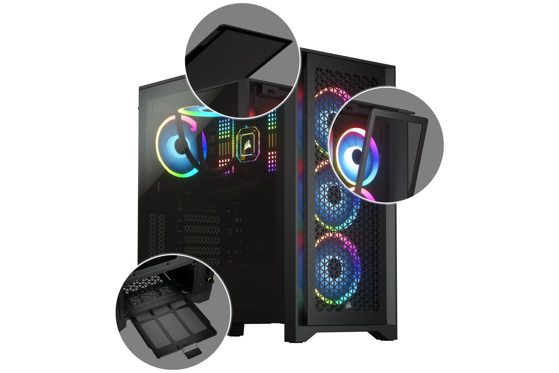 Vỏ case Corsair 4000D Airflow Black