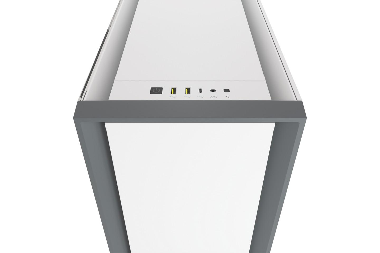 I/O mặt trước Corsair 5000D White Tempered Glass