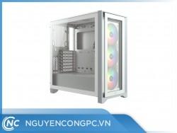 Vỏ máy tính Corsair iCUE 4000X RGB White TG Mid-Tower ATX