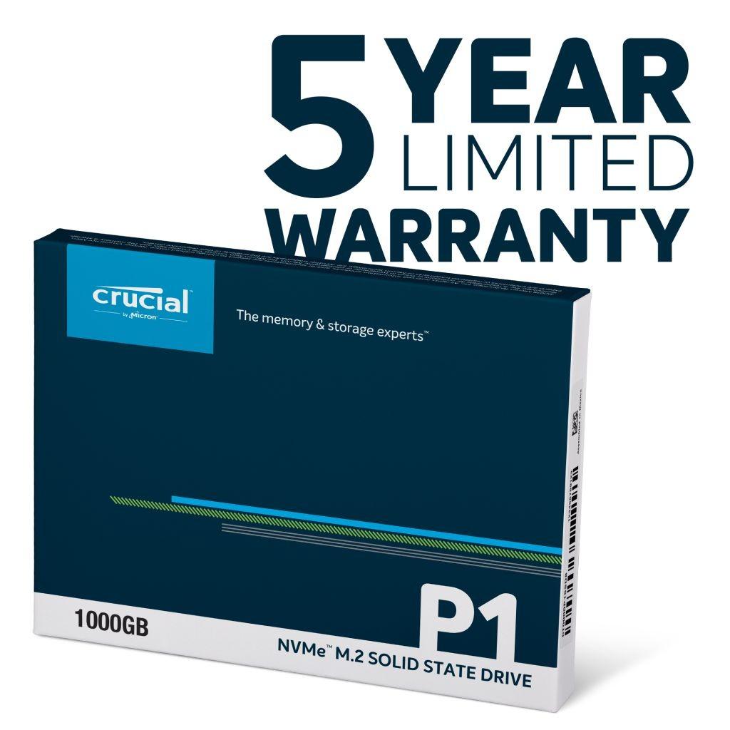 Crucial P1 1TB NVMe bảo hành 5 năm