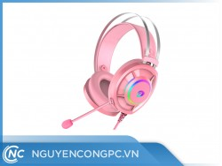 Tai Nghe DareU EH469 Mirror Queen Pink 7.1 RGB