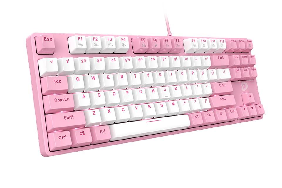 DareU EK87 Pink White mang thiết kế tenkeyless