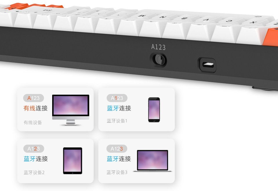 DareU EK871 Bluetooth được thiết kế có một công tắc vật lý