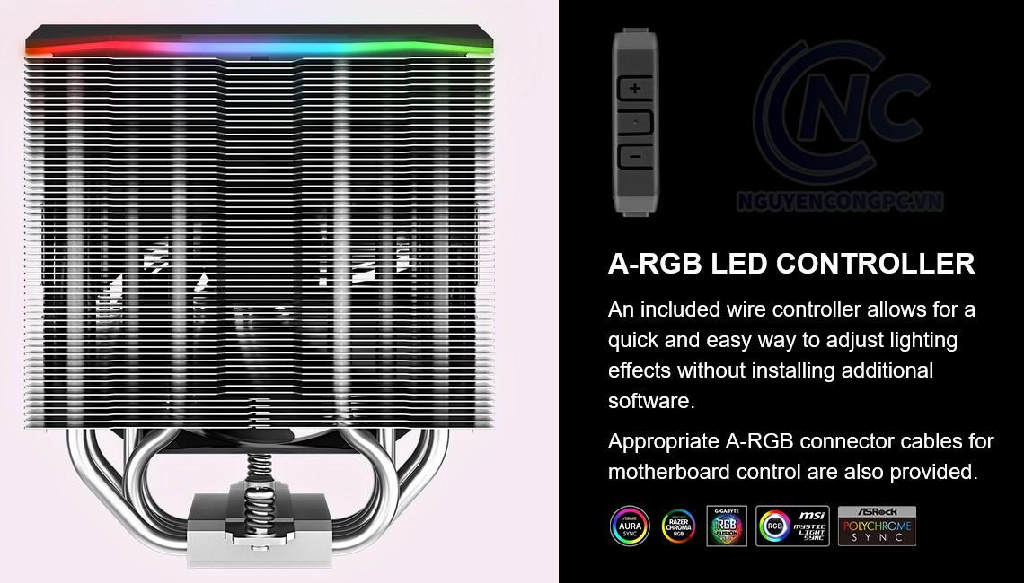 Deepcool AS500 cho phép điều chỉnh hiệu ứng ánh sáng