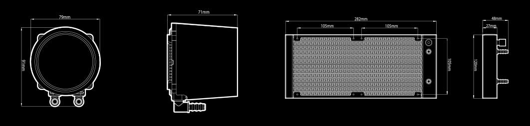 Deepcool GamerStorm Castle 240 RGB V2 Spec