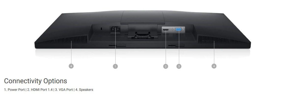 Các cổng kết nối của Màn hình Dell E2420HS
