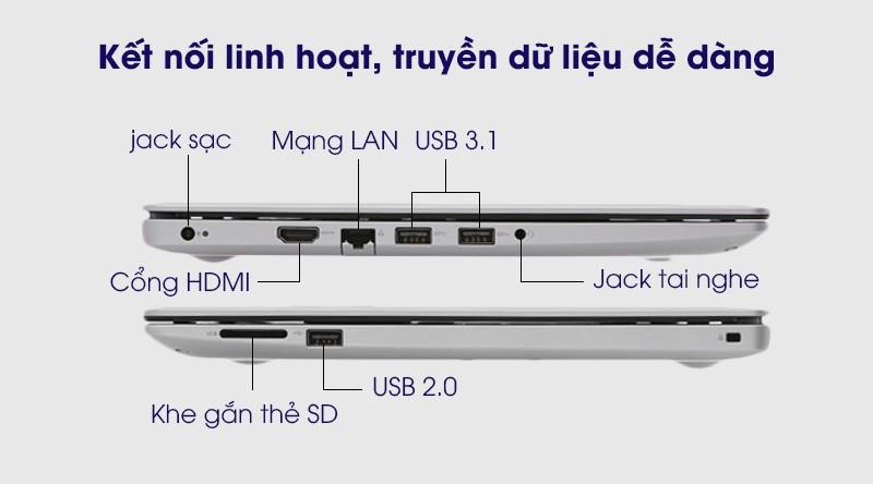 Dell Inspiron 3493 N4I5122WA được trang bị những chuẩn kết nối thông dụng