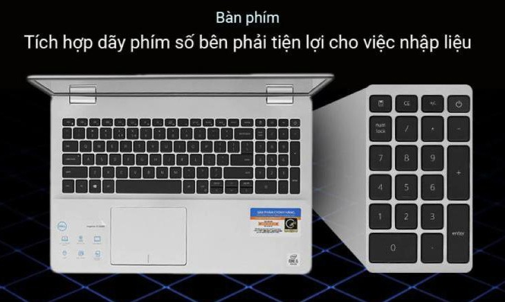 Bàn phím của Dell Inspiron N5593 P90F002N93A