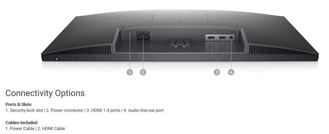 Màn hình siêu mỏng Dell S2421NX có hai cổng HDMI