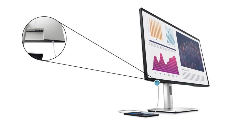 Dell UltraSharp U2421E hỗ trợ kết nối kỹ thuật số mở rộng