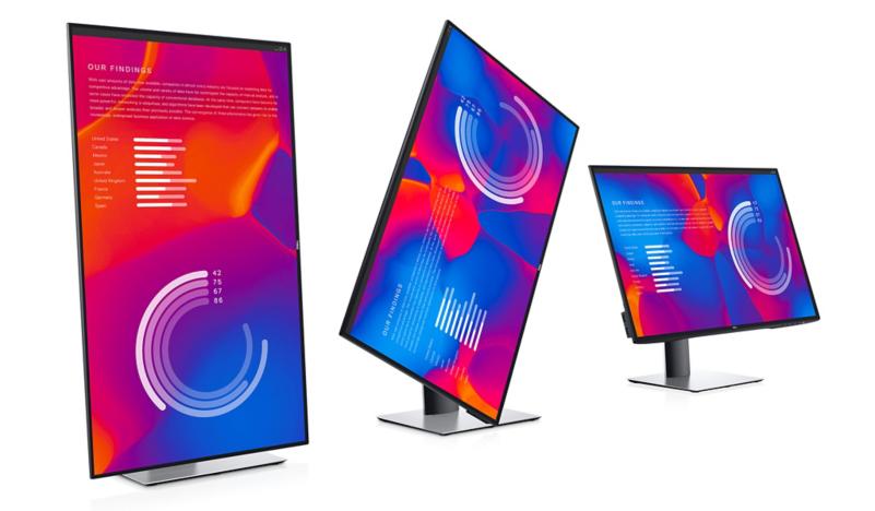 chiều cao và xoay của màn hình Dell U2721DE UltraSharp