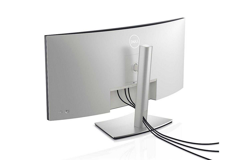 Dell U3421WE UltraSharp được chế tác với lớp hoàn thiện màu bạc bạch kim cao cấp