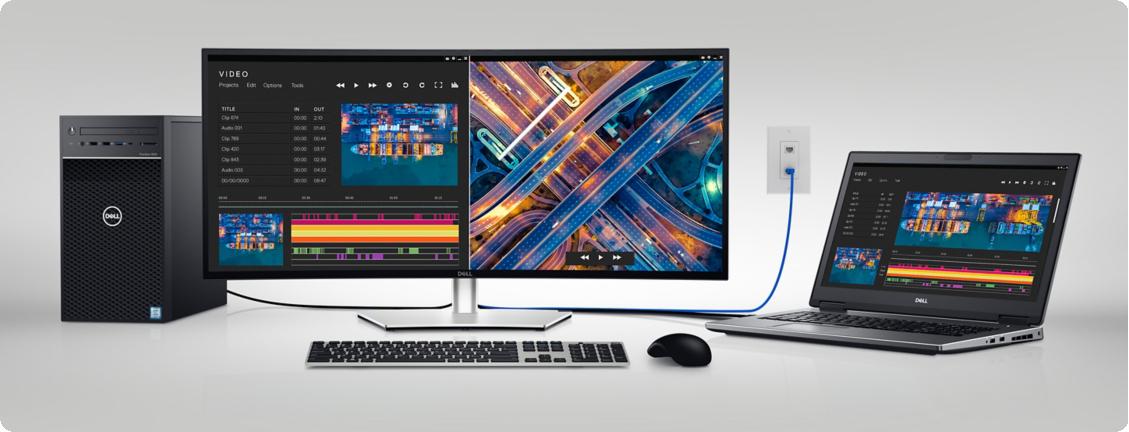 Dell U3421WE UltraSharp Trung tâm năng suất của bạn