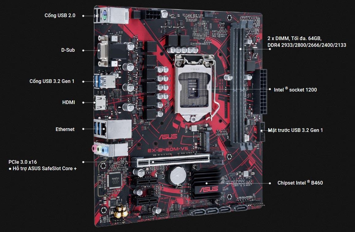 Mainboard ASUS EX-B460M-V5