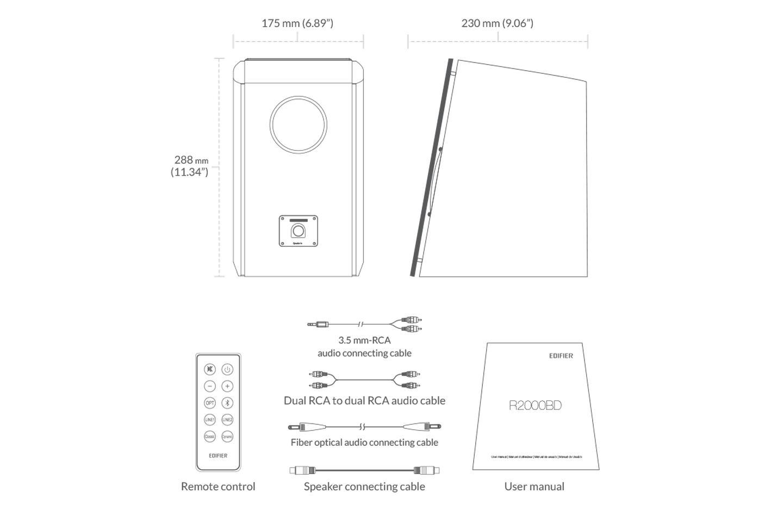 thông số Loa máy tính Bluetooth Edifier R2000DB