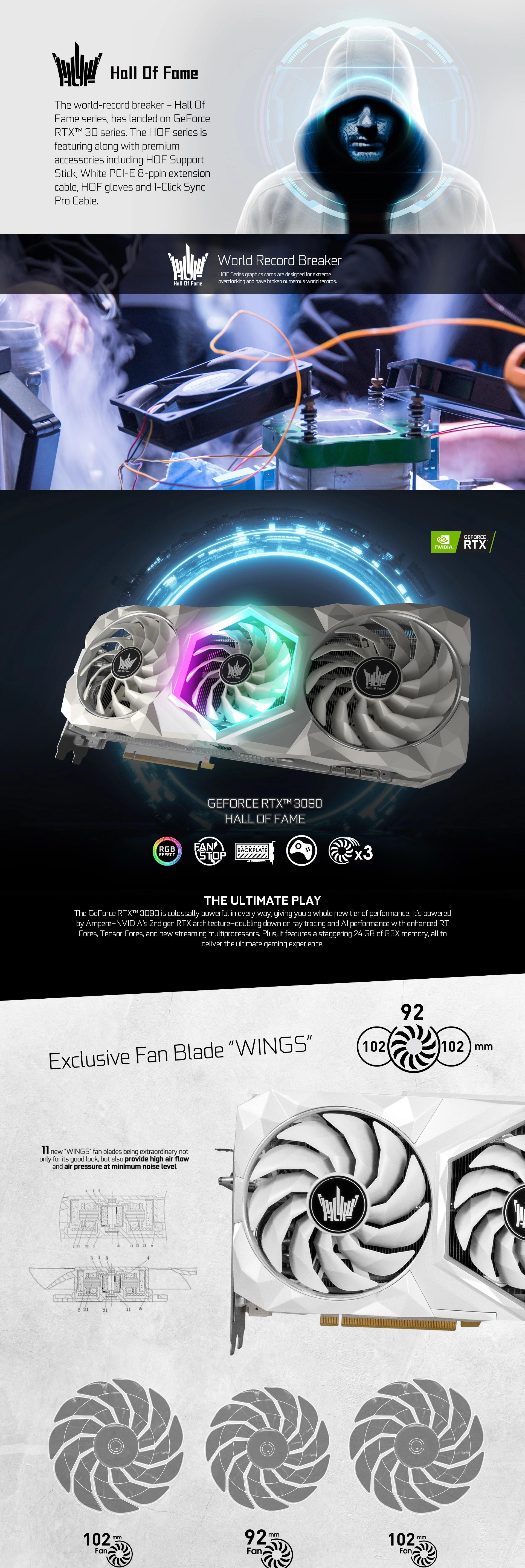 Card Màn Hình GALAX GeForce RTX 3090 HOF
