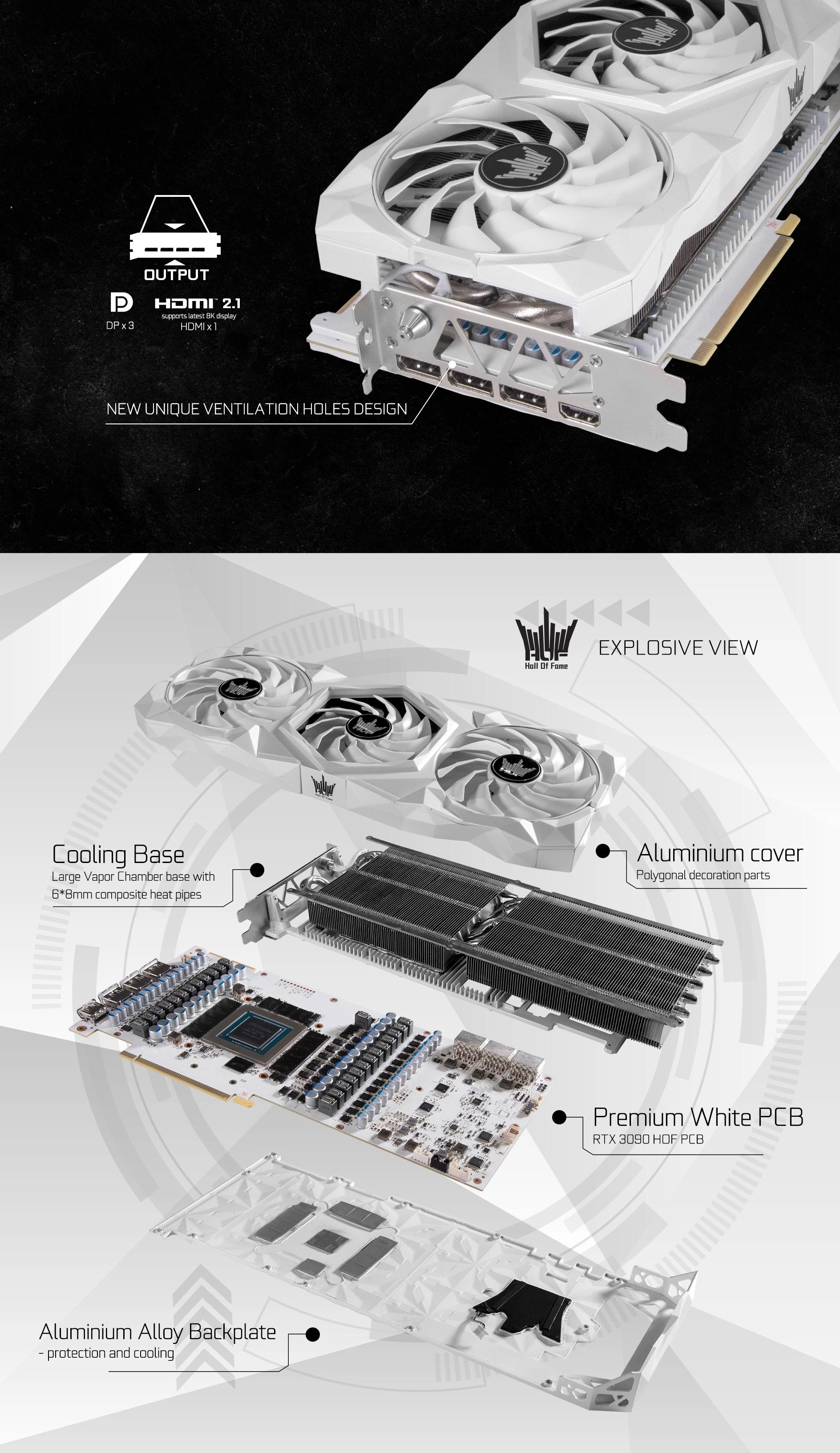 GALAX RTX 3090 HOF Premium được trrang bị một nút Hyper Boost