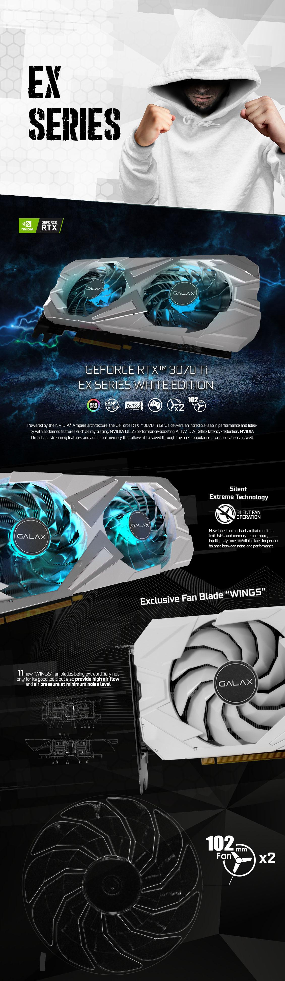GALAX GeForce RTX 3070 Ti EX White (1-Click OC)