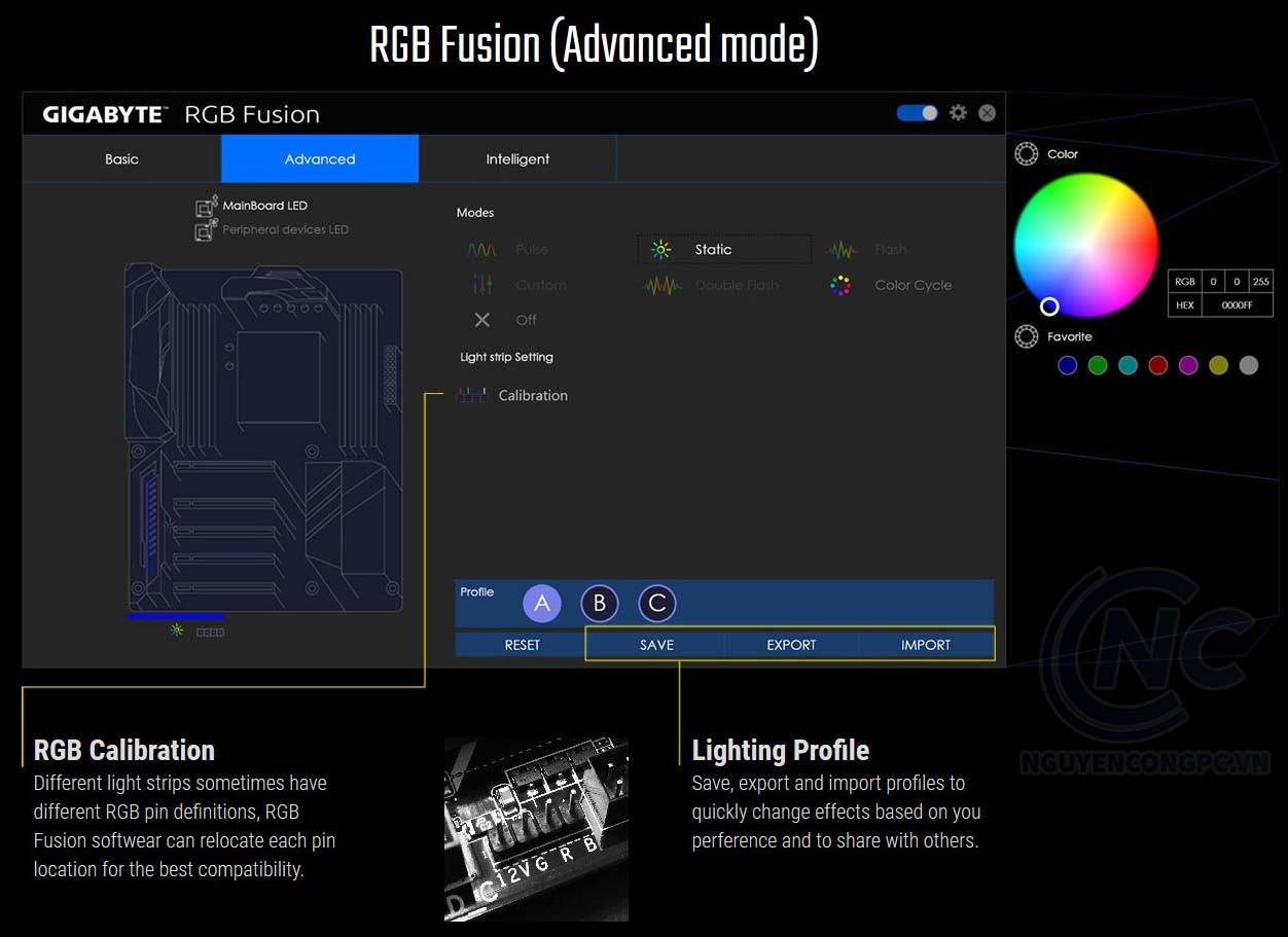 RGB Fusion (Chế độ nâng cao)