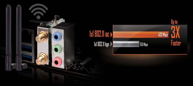 Nhanh hơn và tốt hơn với Intel Dual Band 802.11ac WIFI + BT 4.2