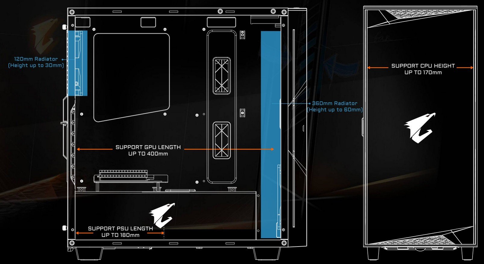 Case GIGABYTE AORUS GB AC300G Glass