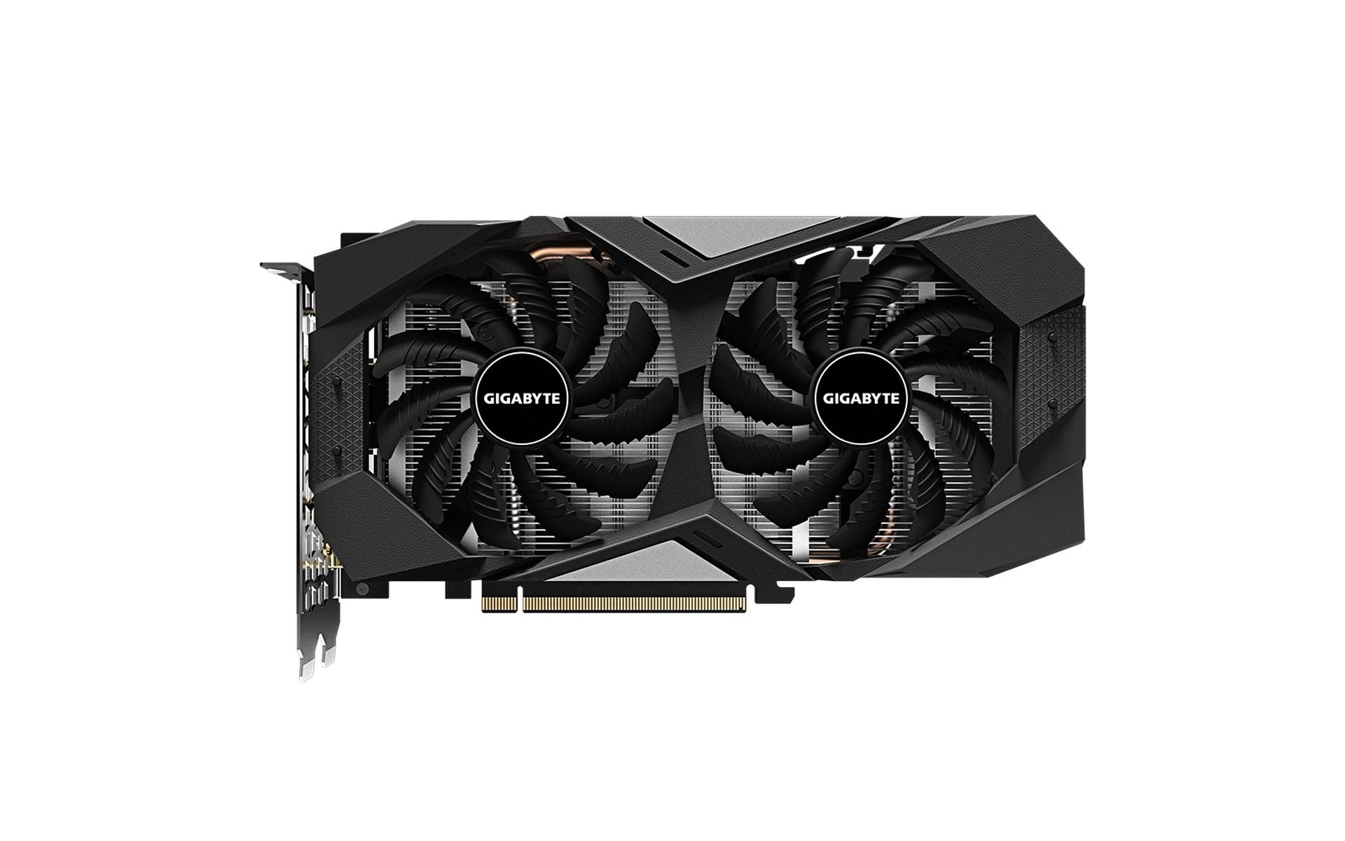 VGA GIGABYTE GeForce GTX 1660 OC 6G được thiết kế với hệ thống làm mát WINDFORCE 2X