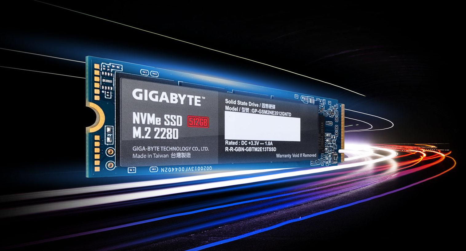 GIGABYTE SSD NVMe 512GB M.2 2280 Gen 3x4 GP-GSM2NE8512GNTD