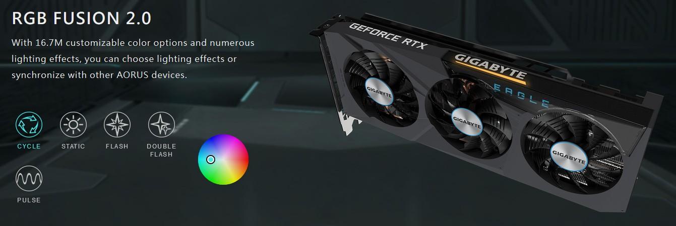 RGB FUSION 2.0 Với 16,7M tùy chọn màu