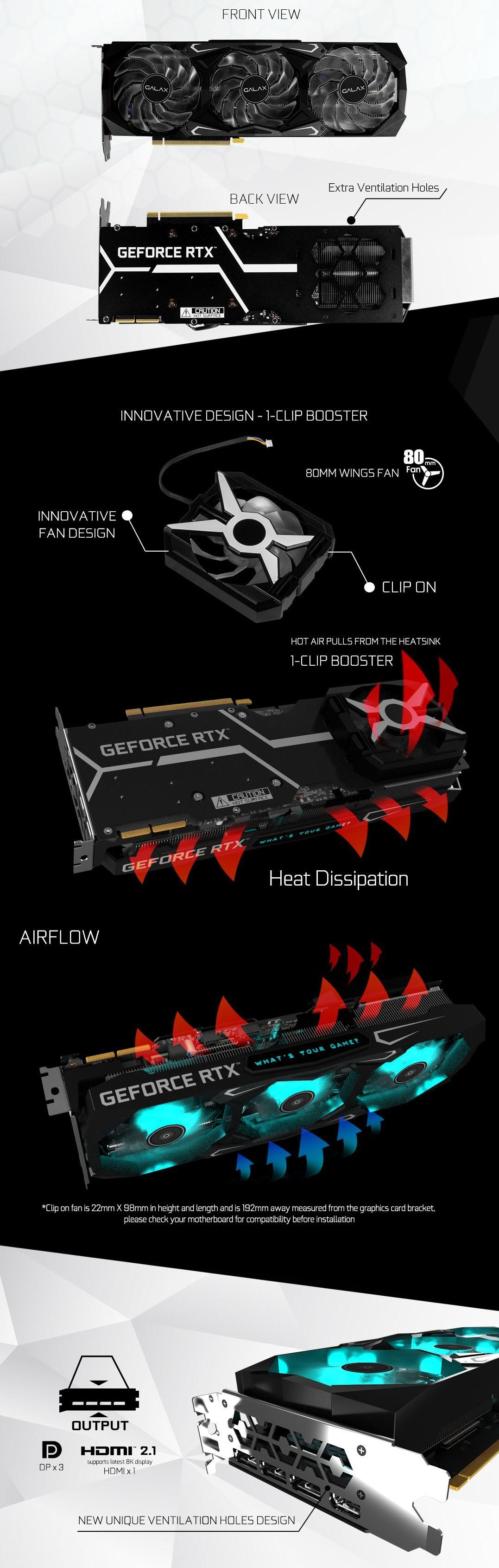 GALAX RTX 3090 SG 1-Click OC có một phụ kiện thú vị khác là quạt tăng áp