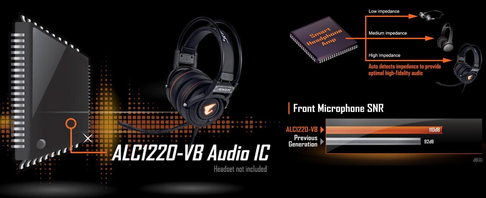 Âm thanh ALC1220 120dB(A) SNR HD