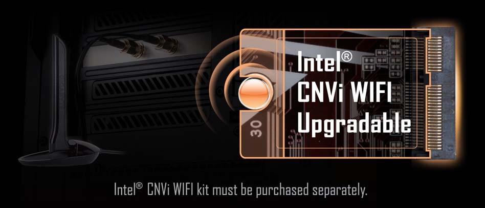 Khe M.2 KEY E cho mô-đun PCIe WIFI Có thể nâng cấp