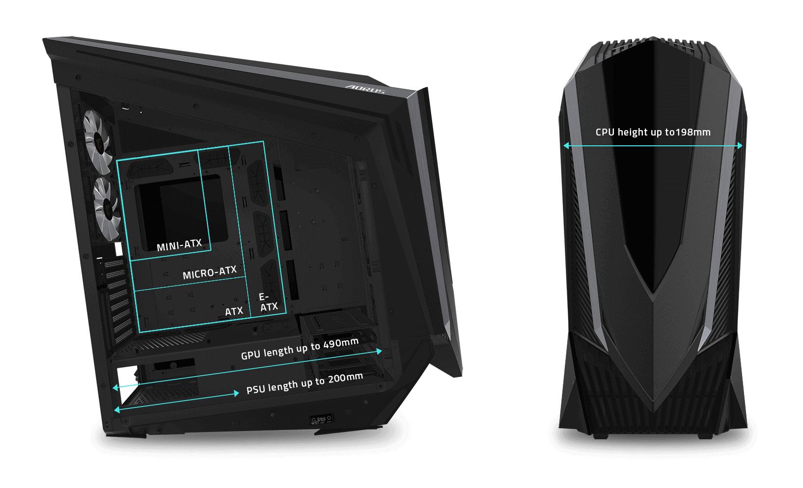 AORUS C700 GLASS có hiệu suất làm mát hiệu quả cực cao