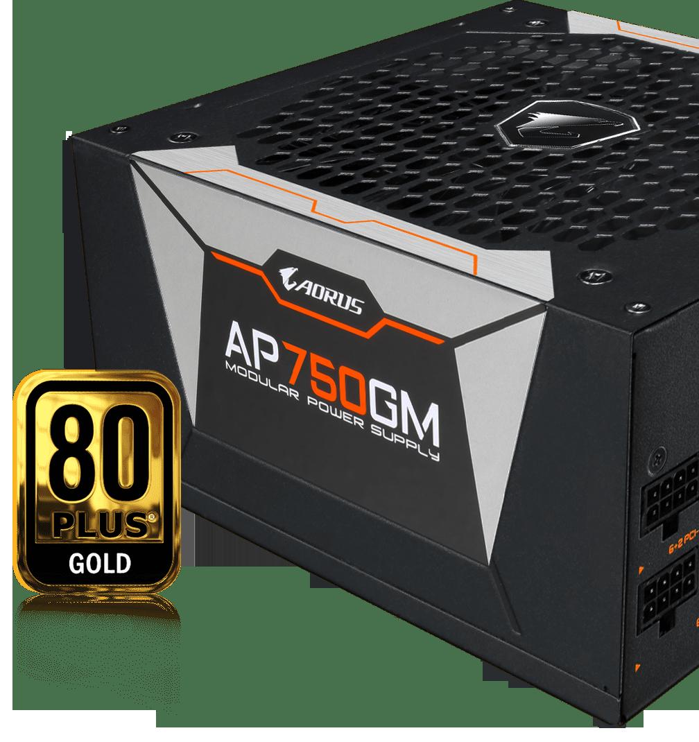 PSU Gigabyte AORUS P750W được chứng nhận 80 Plus Gold