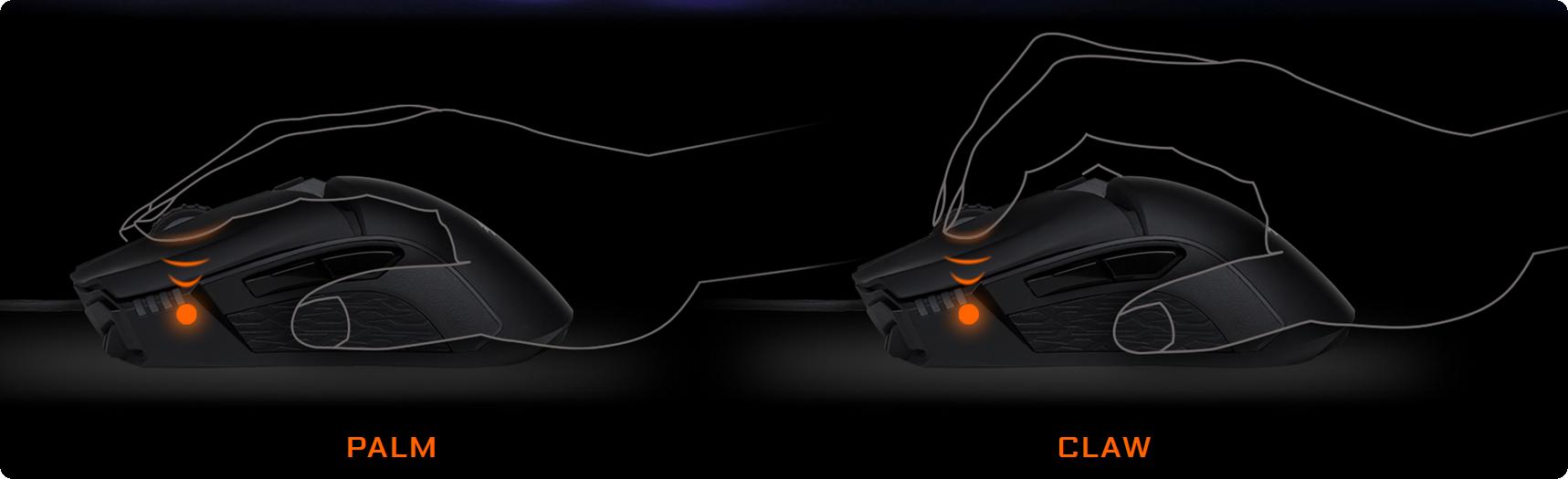 Gigabyte Aorus M5 được chế tạo cho người dùng thuận tay phải