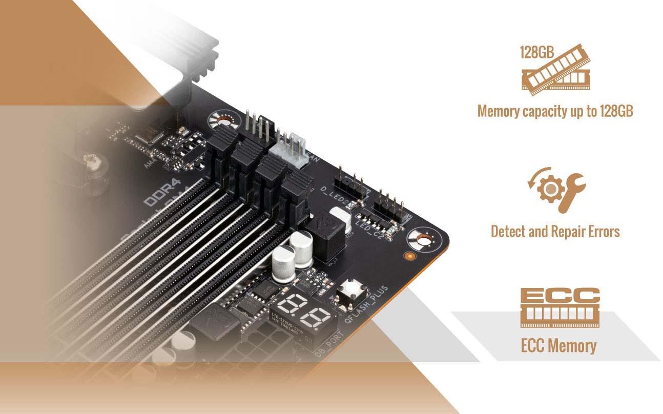Giga B550 VISION D Hỗ trợ RAM ECC bảo vệ chống hỏng dữ liệu