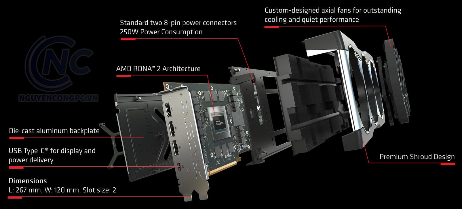 Card đồ họa Gigabyte Radeon RX 6800 16G