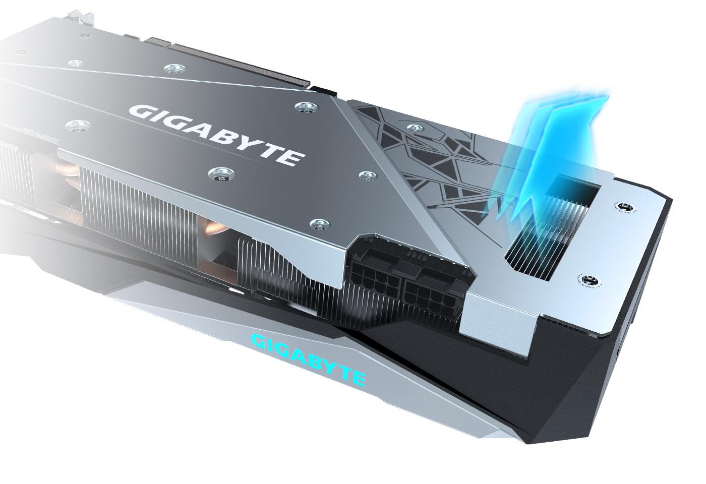 Gigabyte Radeon RX 6800 GAMING OC 16G có thiết kế tản nhiệt mở rộng