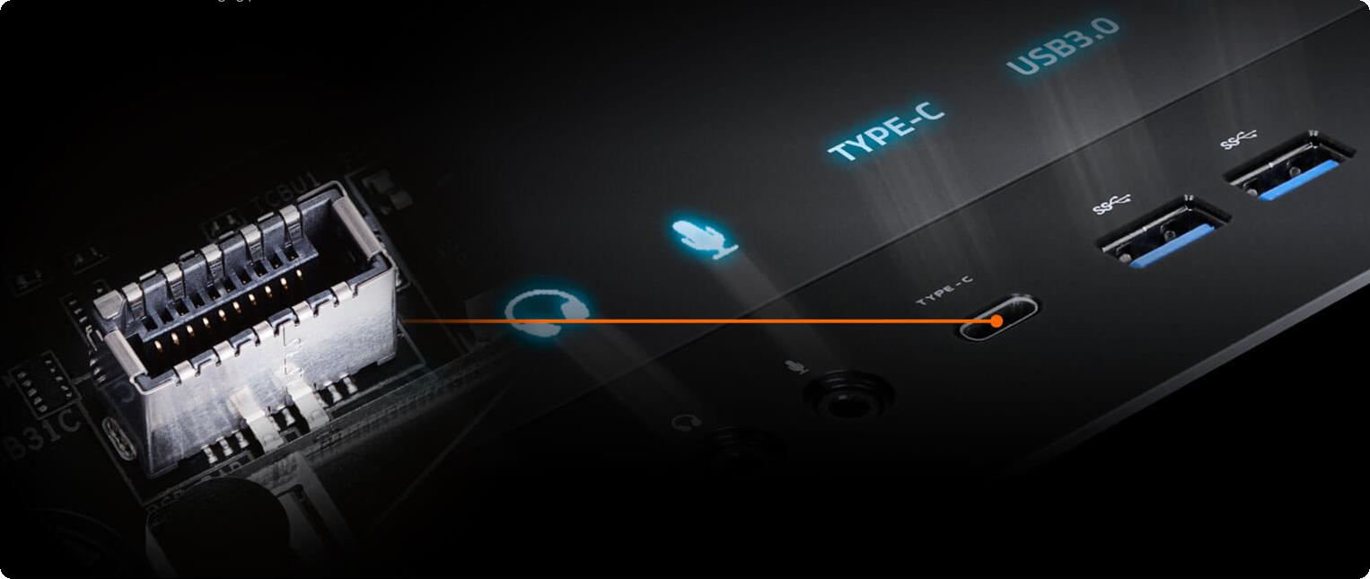 Đầu nối bảng điều khiển phía trước USB Type-C