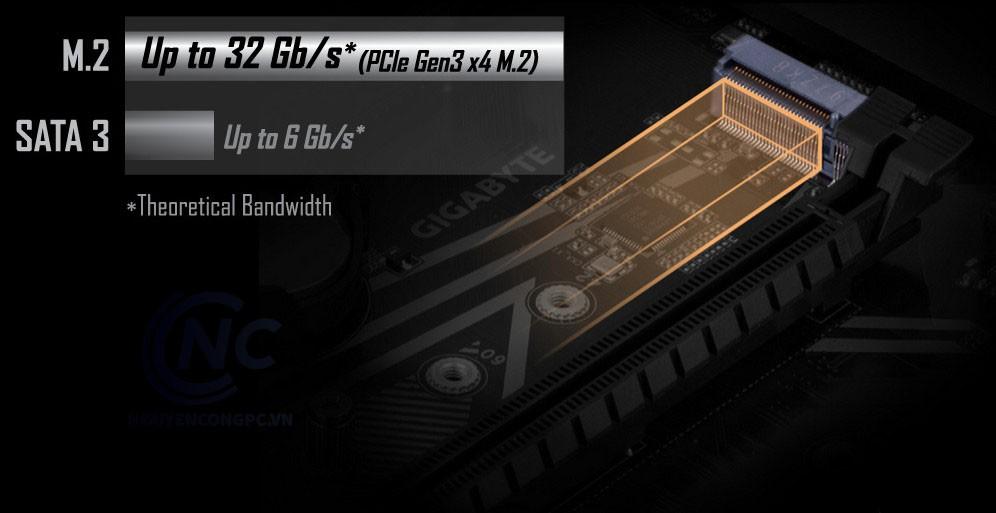 Đầu nối kép M.2 NVMe PCIe Gen3 x4