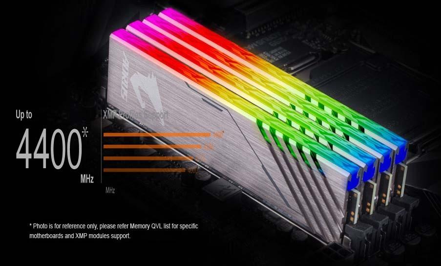Hỗ trợ cho DDR4 XMP lên đến 4400MHz và hơn thế nữa.