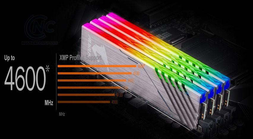 Hỗ trợ cho DDR4 XMP lên đến 4600MHz và hơn thế nữa