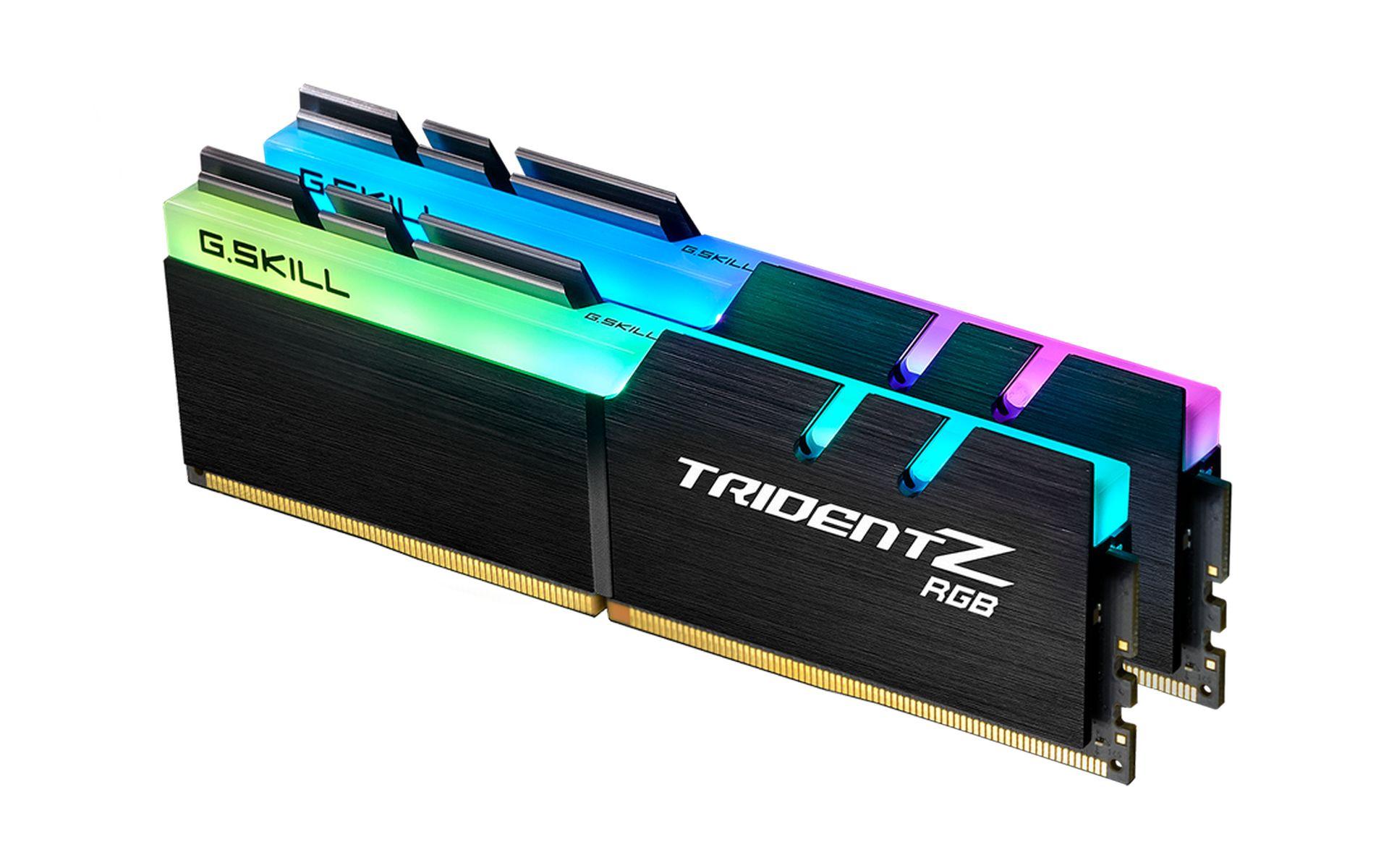 bộ nhớ G.Skill Trident Z RGB 16GB (2x8GB) Bus 3600MHz CL19 DDR4 (F4-3600C19D-16GTZRB)